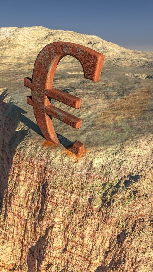 Памятник евро иллюстрация вектора