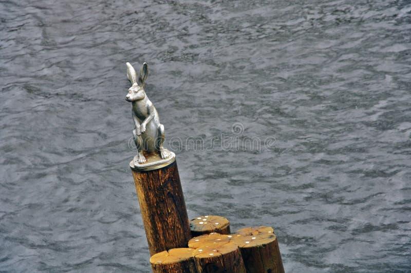Памятник зайцу в крепости Питер и Пол в Санкт-Петербурге, России стоковые фотографии rf