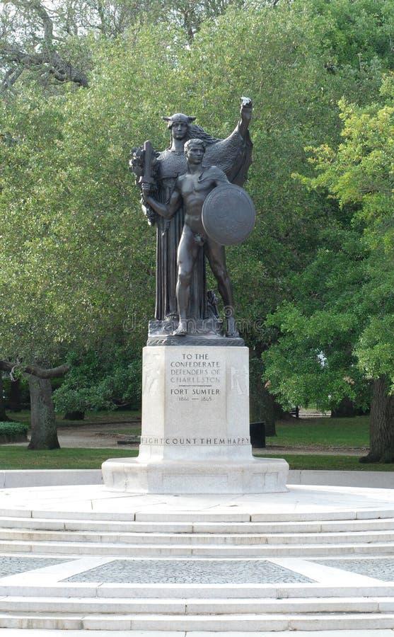 памятник защитников confederate charleston стоковые изображения rf