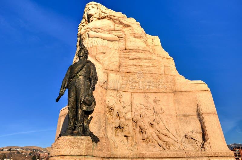 Памятник дивизиона Мормона, Солт-Лейк-Сити, Юта стоковая фотография rf