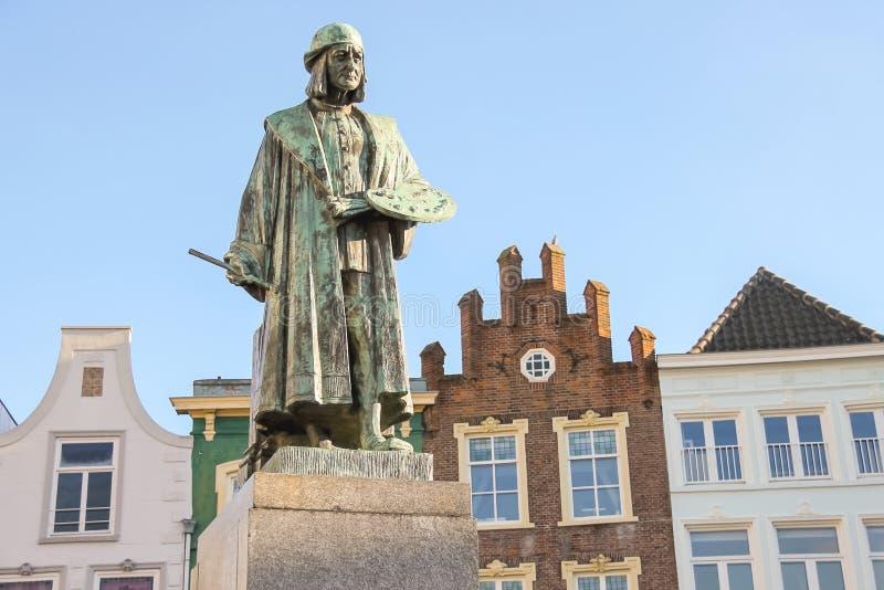 Памятник известного художника h Bosch в s-Hertogenbosch стоковая фотография