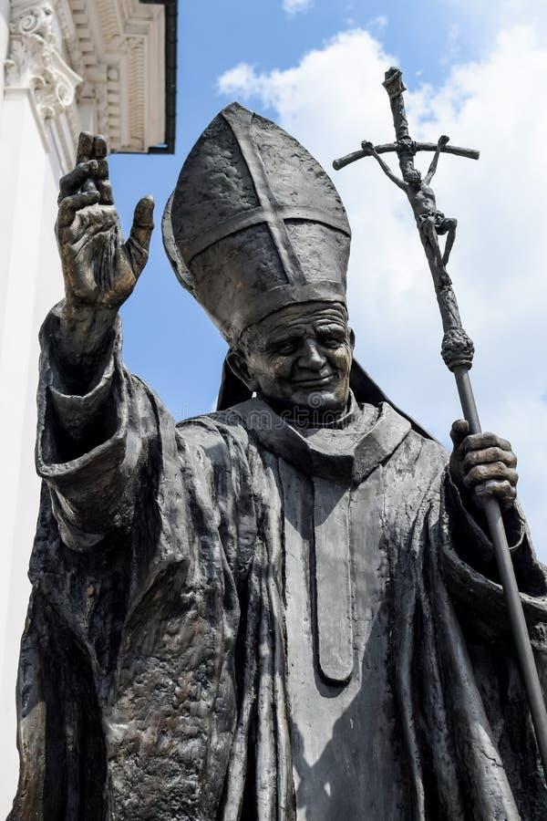 Памятник Иоанна Павла второй Папа Karol Wojtyla стоковая фотография