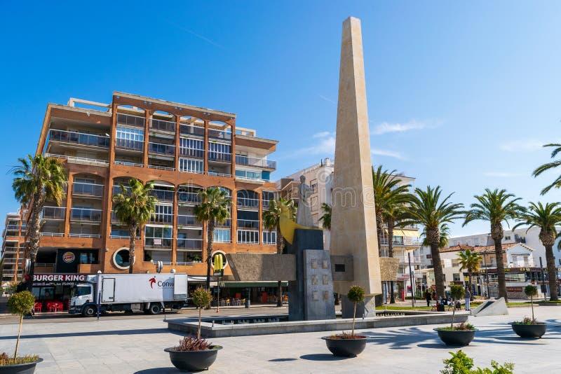 Памятник короля Jaume i стоковые фотографии rf