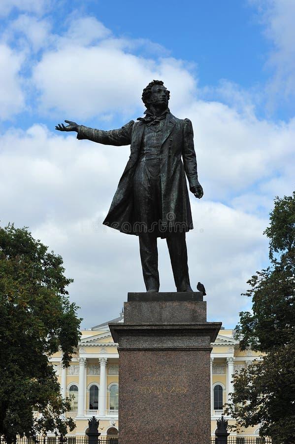 Памятник к большому русскому писателю Александру Pushkin стоковые изображения rf
