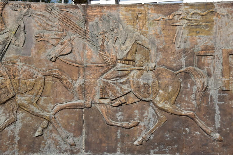 Памятник к героям войны в Астане стоковое фото rf