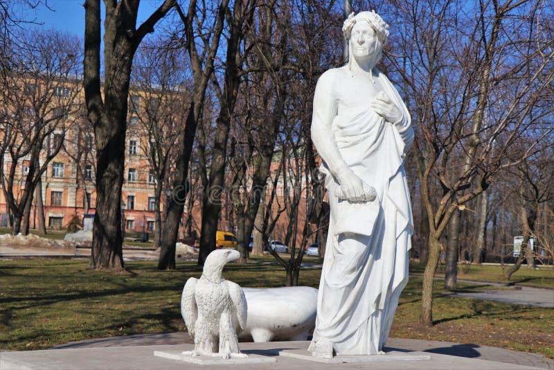 Памятник к Данте Алигьери стоковое изображение rf
