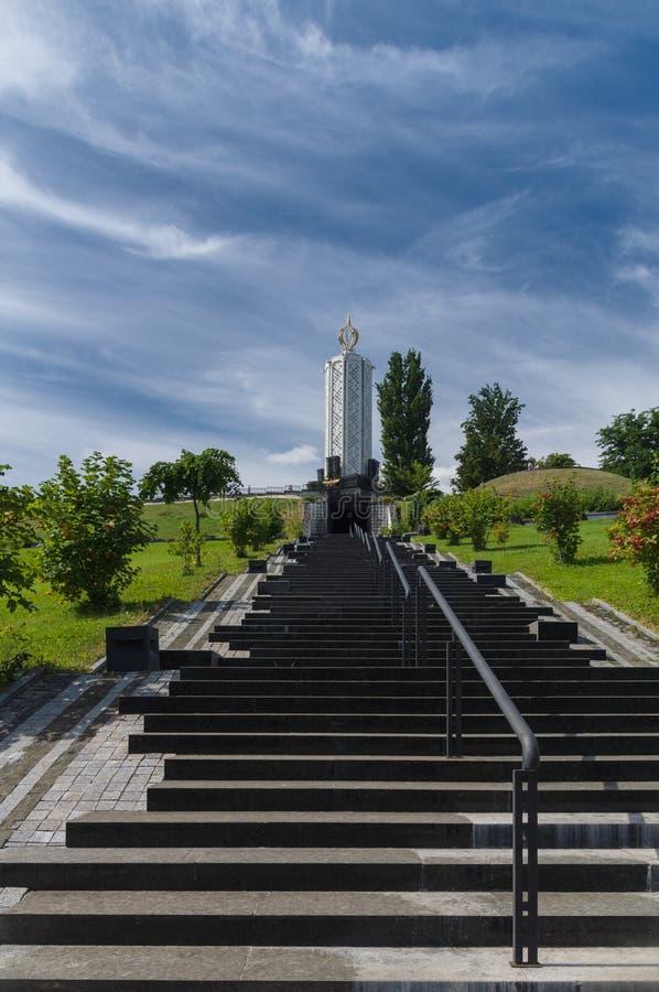 Памятник к жертвам Holodomor в Киеве, Украине стоковые изображения