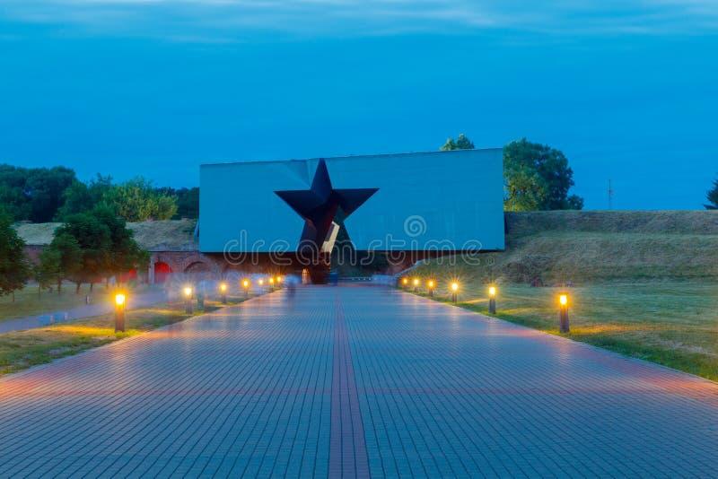 Памятник к защитникам крепости Бреста стоковая фотография rf