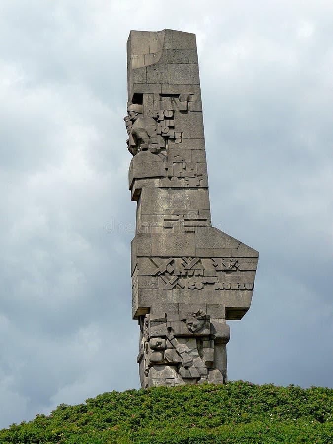 """Памятник к защитникам Westerplatte в """"sk GdaÅ в Pola стоковые изображения rf"""