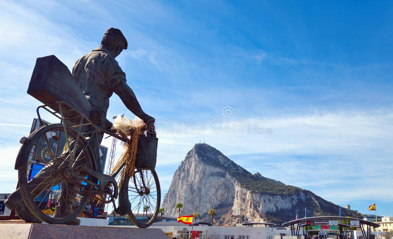Памятник к испанскому работнику стоковые изображения rf