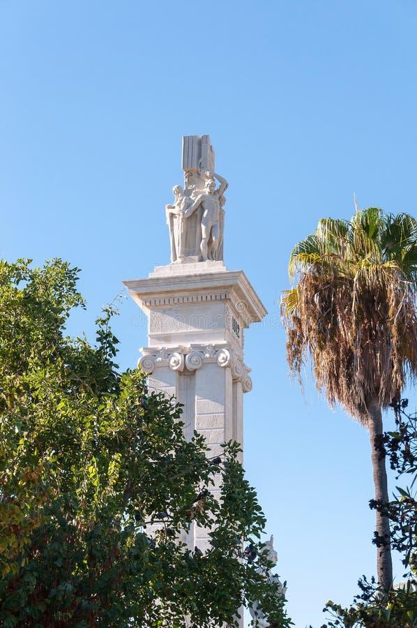 Памятник к конституции 1812 стоковое изображение rf