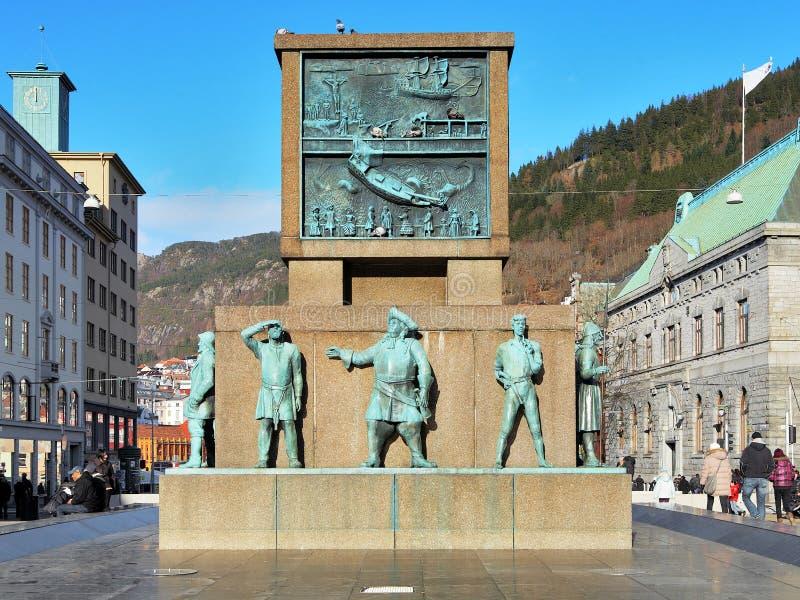 Памятник к матросам в Бергене стоковое фото rf