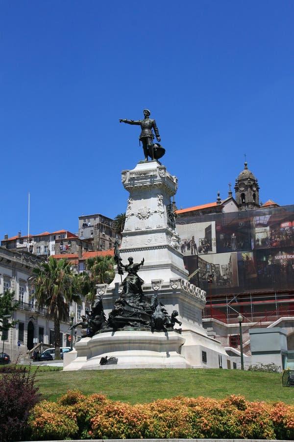 Памятник к моряку Henrique- стоковое фото rf