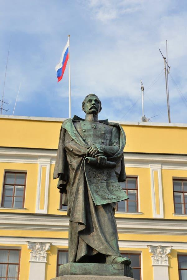 Памятник к моряку Pakhtusov стоковое изображение