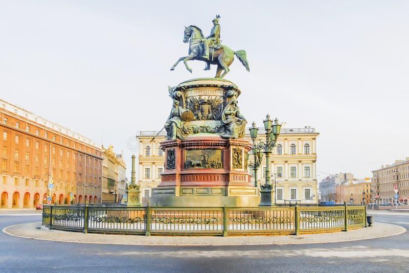 Памятник к Николасу i в Санкт-Петербурге, России стоковое изображение