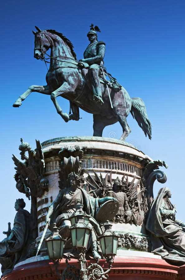 Памятник к Николас i (1859) в Ст Петерсбург стоковые изображения rf