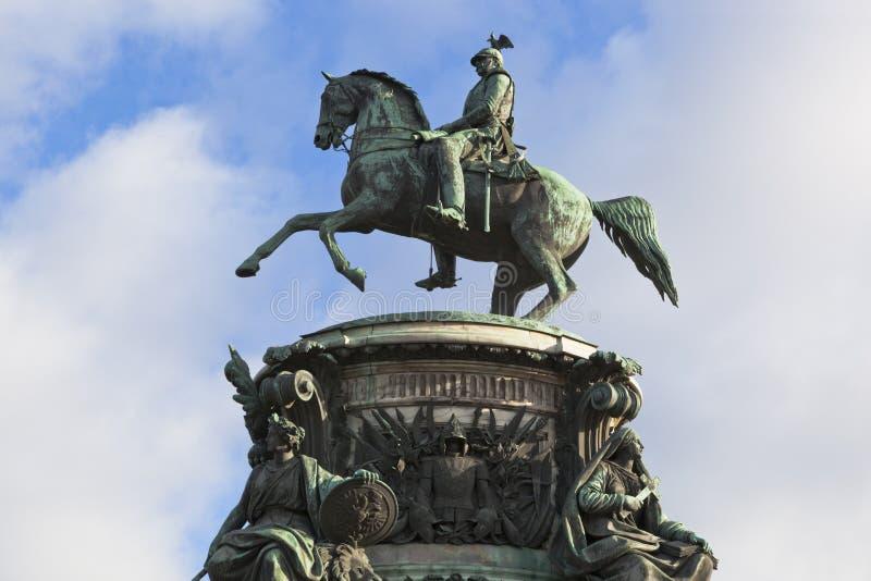 Памятник к Николасу i в Санкт-Петербурге стоковое изображение rf