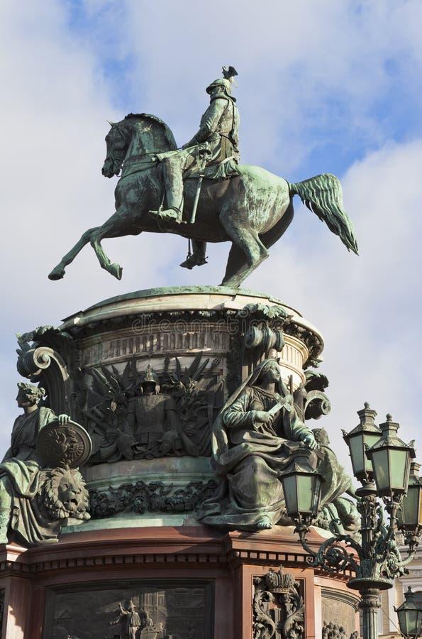 Памятник к Николасу i в Санкт-Петербурге стоковое изображение