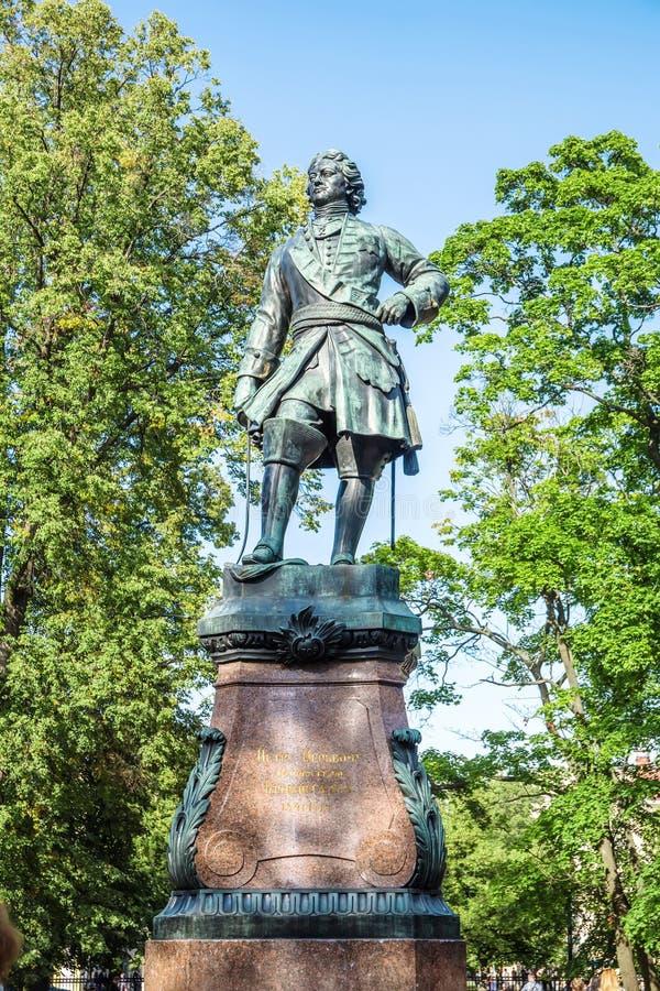 Памятник к Питеру большой, Kronstadt стоковые изображения