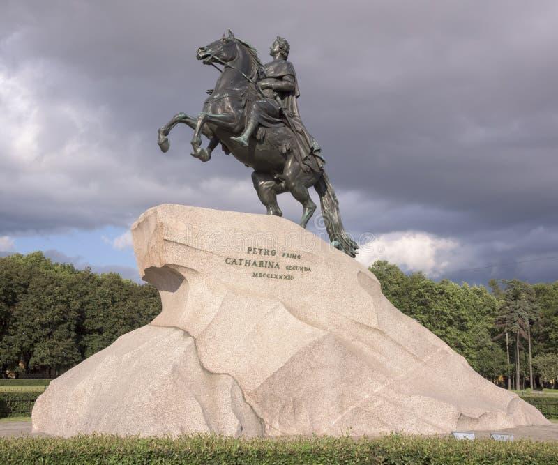 Памятник к Питеру 1 (бронзовый наездник) 1782 Скульптор e - M Fal стоковое изображение rf
