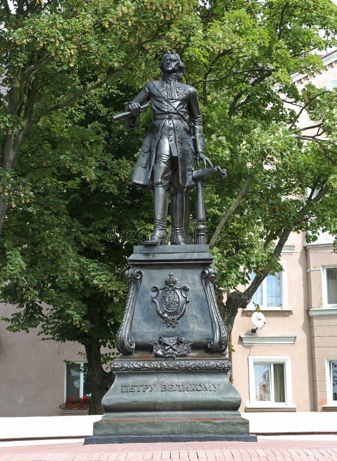 Памятник к Питеру i на банке прохода Калининграда Balt стоковая фотография rf