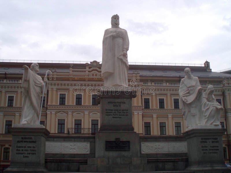 Памятник к принцессе Ольге Киеву, Ð ³ е ьРе ½ иР³ Ð  Ñ ½ ик кР½ Ð 'Ñ  Ñ ¼ аР¿ Ол стоковое изображение rf