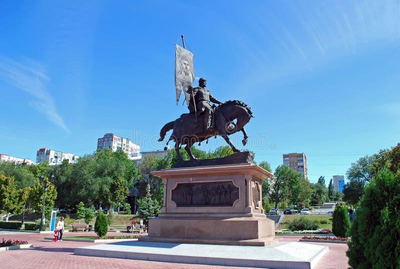Памятник к принцу Georgy Zasekin samara Россия стоковые изображения rf