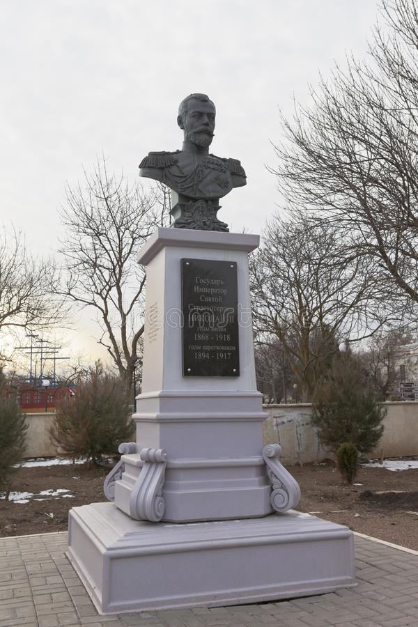 Памятник к русскому императору Николасу II на Em Tereshkova стоковое фото