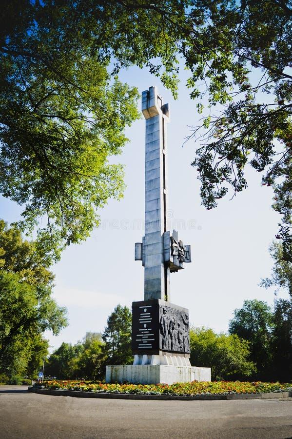 Памятник к солдатам которые умерли в Чечне стоковое изображение rf