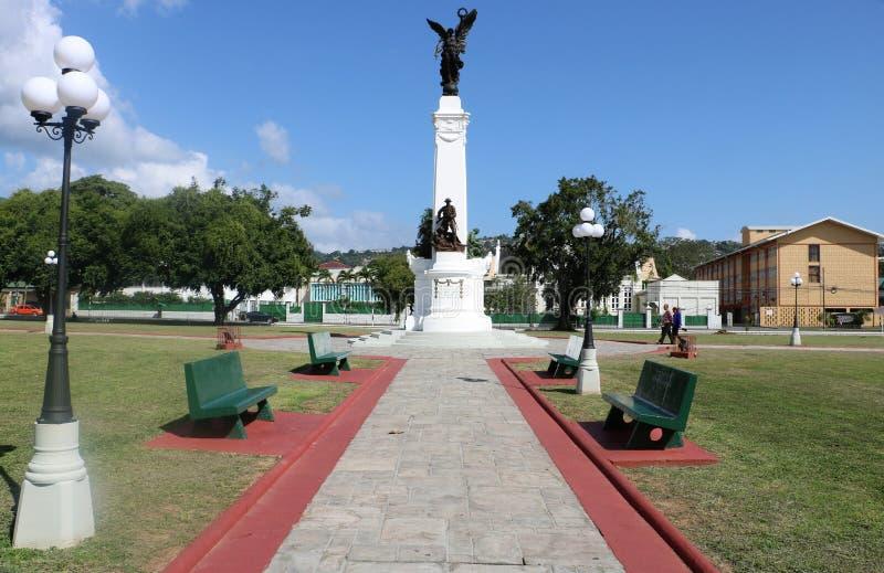 Памятник к храброму, Порт-оф-Спейн мемориального Park※, Тринидад и Тобаго стоковые изображения rf