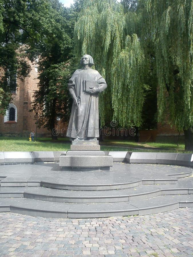 Памятник к Юрию Drohobych в городке Drogobych стоковые фото
