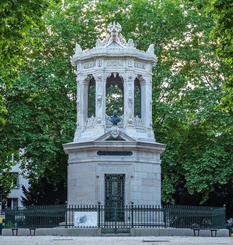 Памятник к Henri Darcy стоковое изображение
