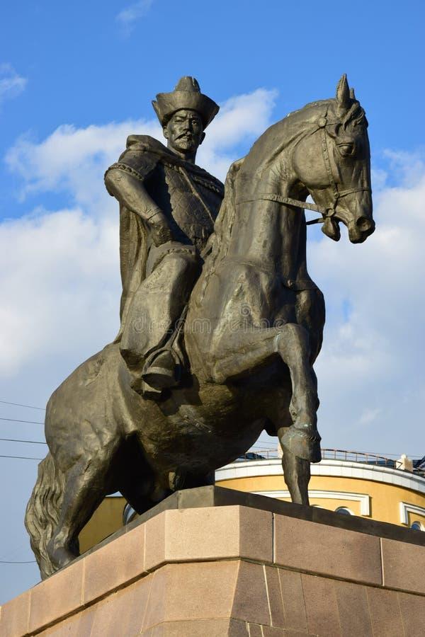 Памятник к Kenesary Khan в Астане стоковое фото rf
