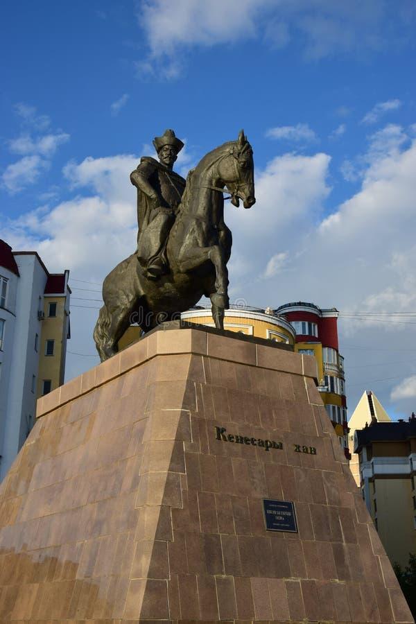 Памятник к Kenesary Khan в Астане стоковое фото