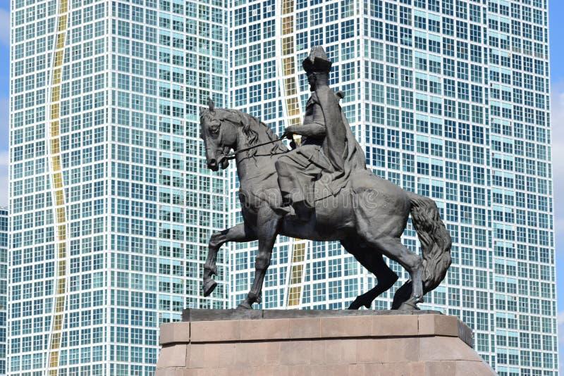 Памятник к Kenesary Khan в Астане стоковые фото