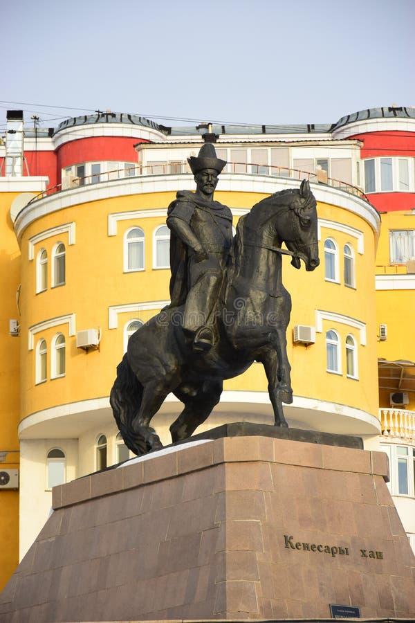 Памятник к Kenesary Khan в Астане стоковая фотография
