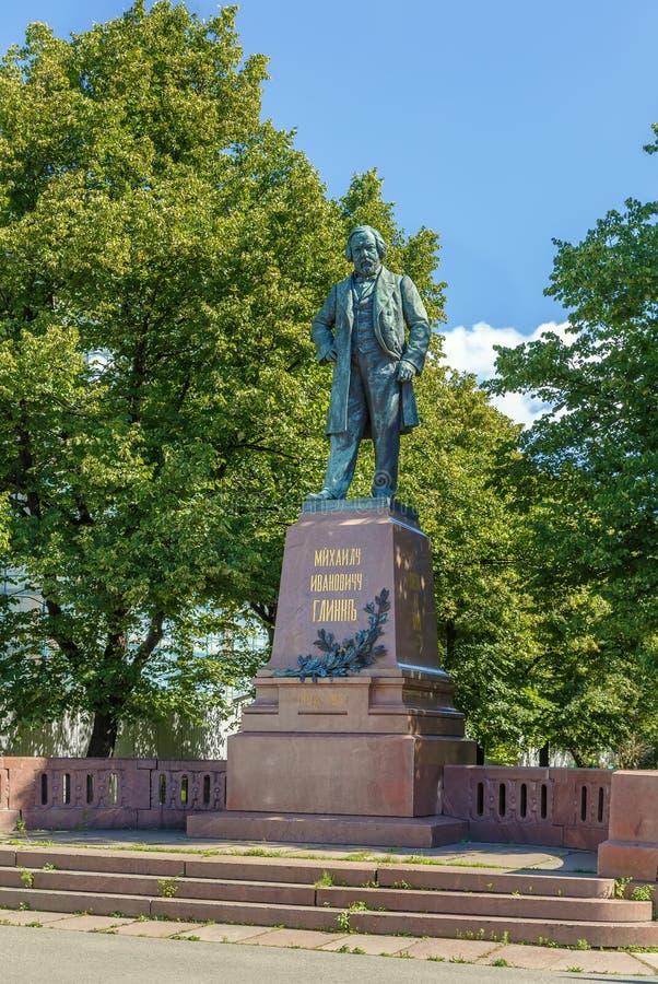 Памятник к Mikhail Glinka, Санкт-Петербургу, России стоковое изображение rf