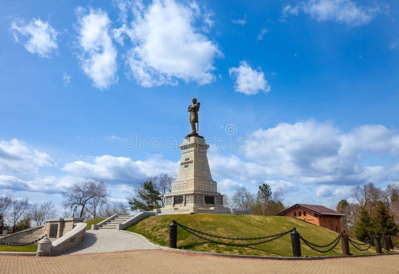 Памятник к Muravyov-Amursky в Хабаровске стоковые фотографии rf
