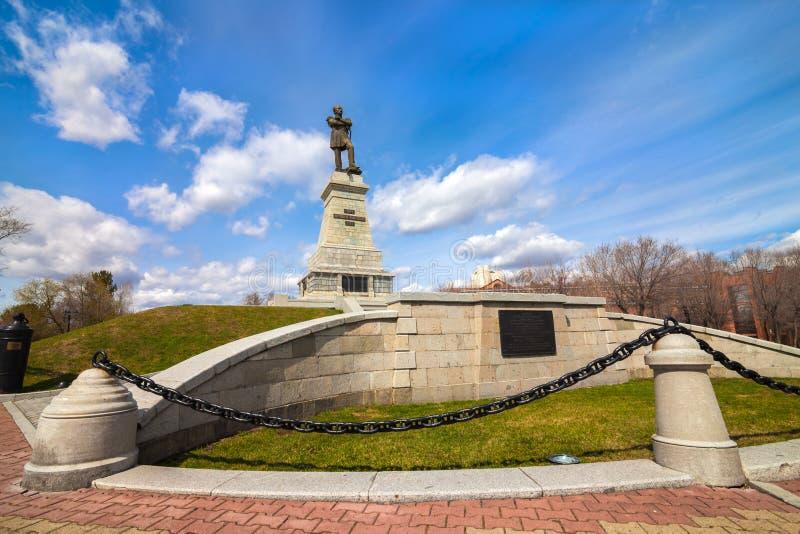 Памятник к Muravyov-Amursky в Хабаровске стоковое фото