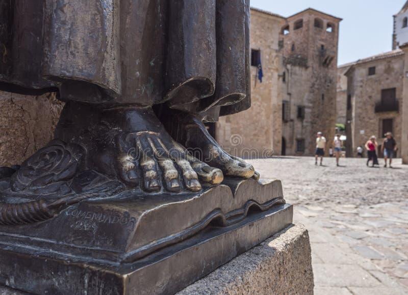 Памятник к San Pedro de Alcantara, сделанному в 1954, расположенному в стоковая фотография rf
