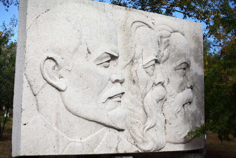Памятник Ленина, Marx и Энгельса стоковая фотография rf