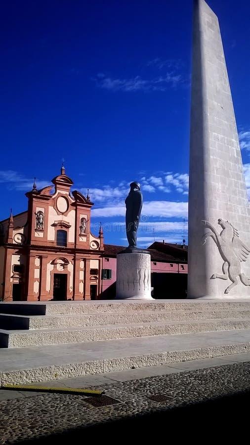 Памятник Луго Francesco Baracca стоковые изображения