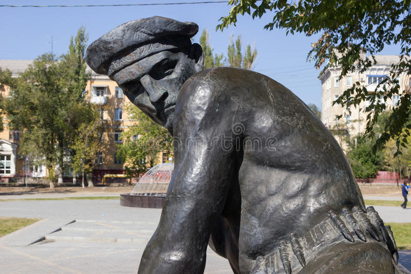 Памятник массовое захоронение моряков участников стоковые изображения rf