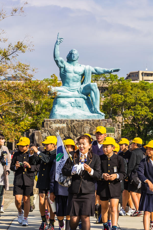 Памятник мира Нагасаки стоковая фотография rf