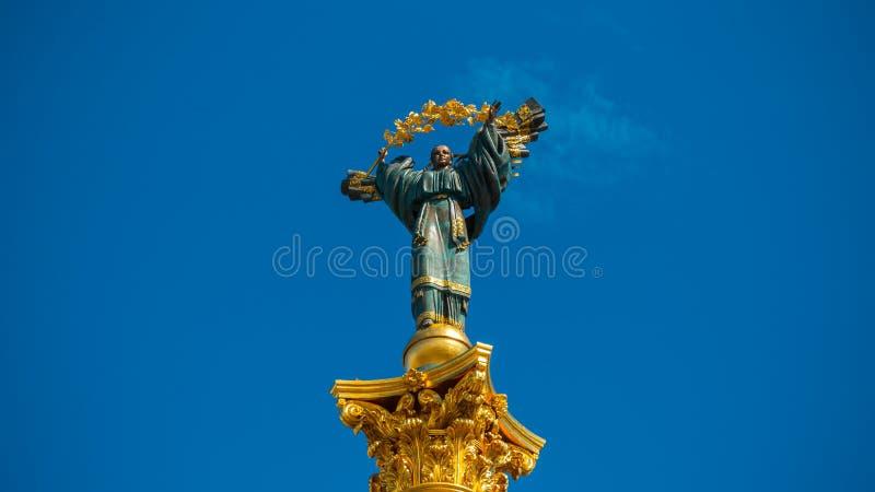 Памятник независимости в городе Kiyiv стоковое изображение