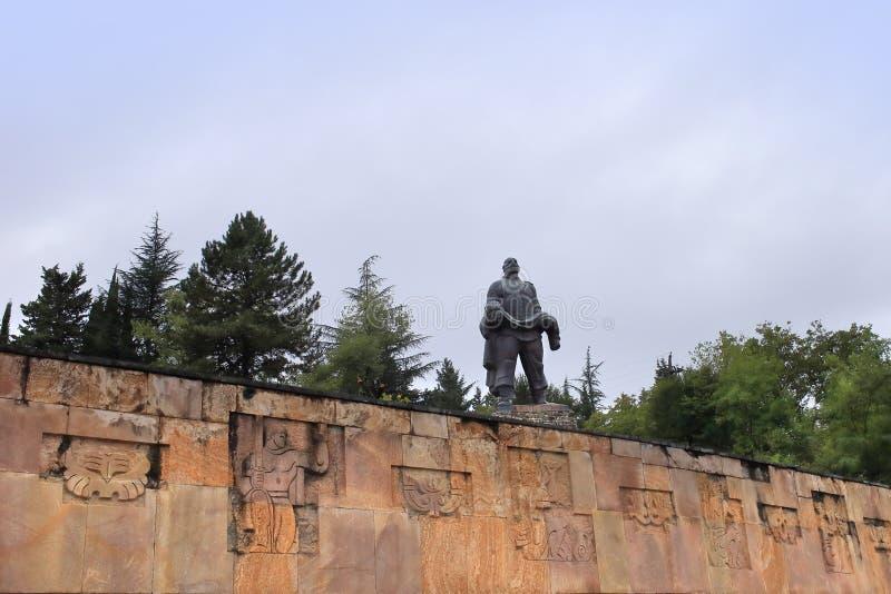 Памятник 'Отец солдата', город Гурджаани, Грузия стоковые фотографии rf