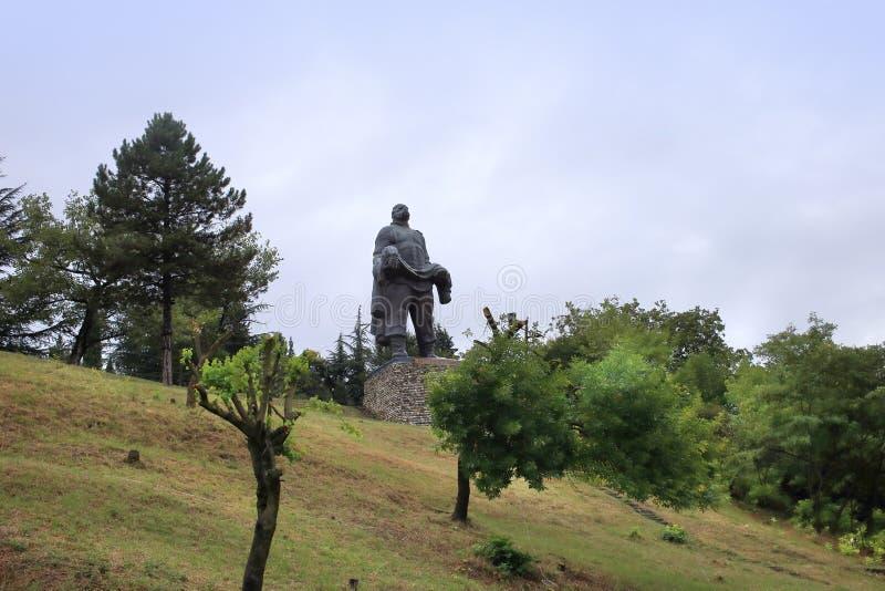 Памятник 'Отец солдата', город Гурджаани, Грузия стоковое изображение