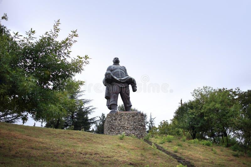 Памятник 'Отец солдата', город Гурджаани, Грузия стоковые изображения rf