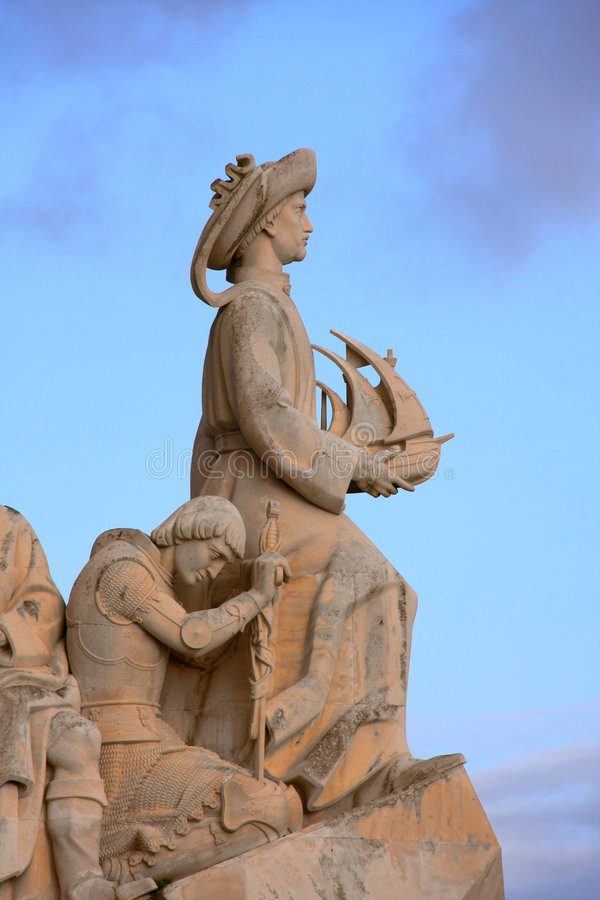 памятник открытий к стоковые изображения