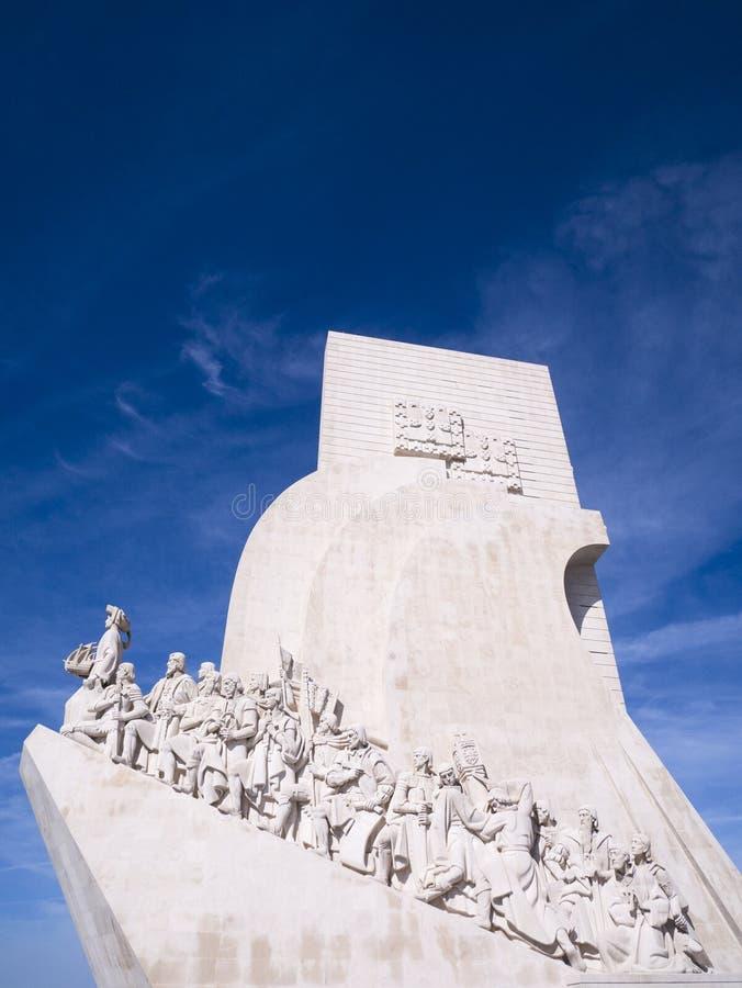 Памятник открытиям нового мира в Belem, Лиссабоне, Португалии стоковая фотография rf